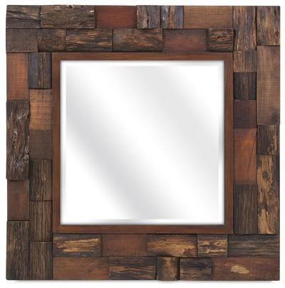 Dario Wood Slat Mirror