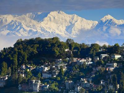 Darjeeling and Kanchenjunga, West Bengal, India-Jane Sweeney-Photographic Print
