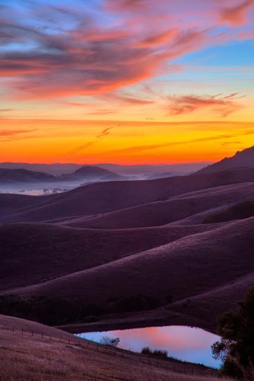 Dark and Moody Sunrise, Petaluma Sonoma County, Bay Area-Vincent James-Photographic Print