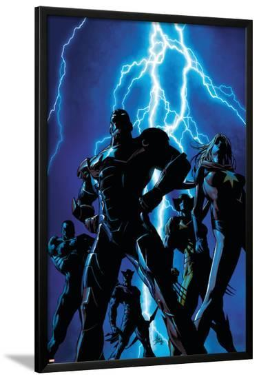 Dark Avengers No.1 Cover: Iron Patriot and Ms. Marvel-Mike Deodato-Lamina Framed Poster