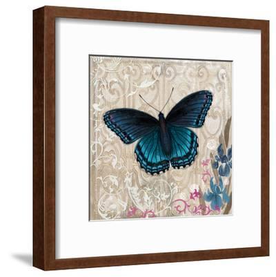Dark Blue Butterfly-Alan Hopfensperger-Framed Art Print
