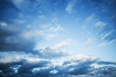 Dark Blue Sky with Clouds, Abstract Photo Background-Eugene Sergeev-Photographic Print