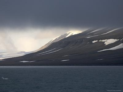 Dark Clouds over Mountain, Svalbard Islands, Norway-Brimberg & Coulson-Photographic Print