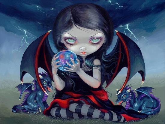 Dark Dragonling-Jasmine Becket-Griffith-Art Print