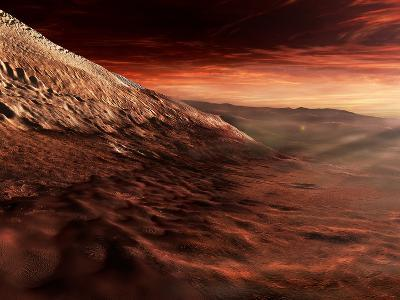 Dark Dunes March Along the Floor of Gale Crater, Mars-Stocktrek Images-Photographic Print