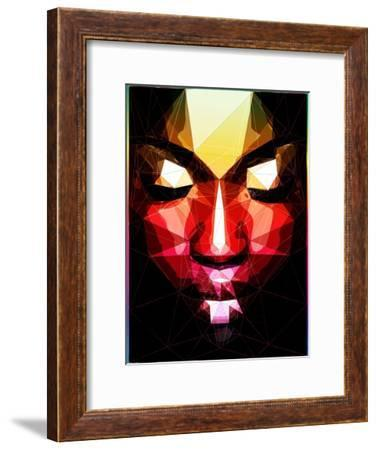Dark Face-Enrico Varrasso-Framed Art Print