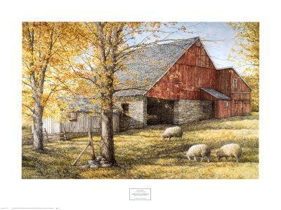 Dark Hallow Illuminated DAN CAMPANELLI ART PRINT 32x24 Farm Sheep Poster