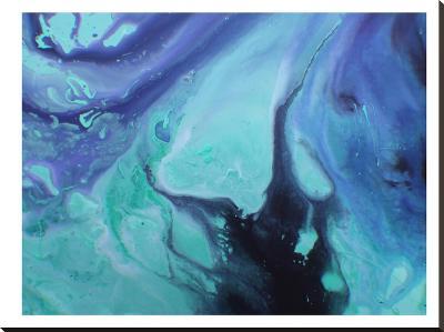 Dark Marble-Deb McNaughton-Stretched Canvas Print