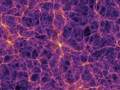 Dark Matter Distribution-Volker Springel-Photographic Print