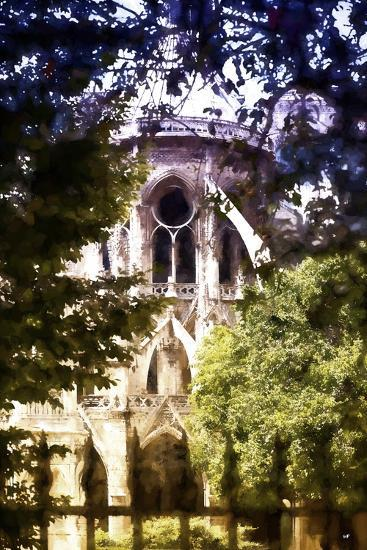 Dark of Notre Dame Cathedral-Philippe Hugonnard-Giclee Print