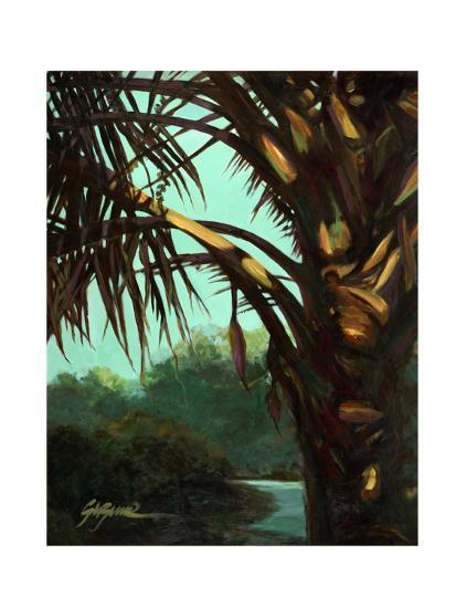Dark Palm-Suzanne Wilkins-Art Print