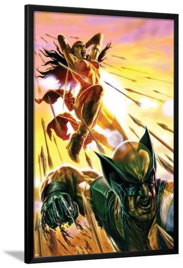Dark Reign: Elektra No.4 Cover: Elektra and Wolverine-Lee Bermejo-Lamina Framed Poster