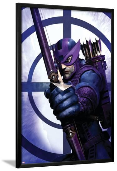 Dark Reign: Hawkeye No.1 Cover: Hawkeye-Clint Langley-Lamina Framed Poster
