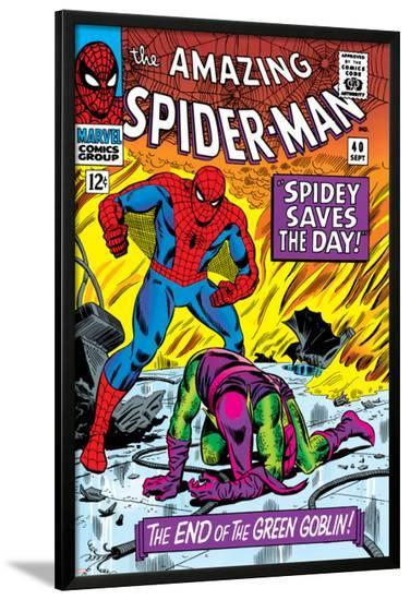 Dark Reign: The Goblin Legacy One-Shot Cover: Spider-Man Fighting--Lamina Framed Poster