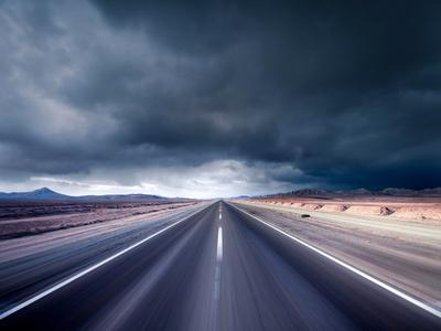 Dark Road--Photographic Print