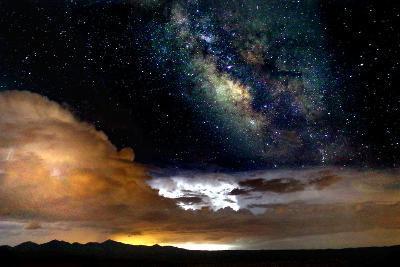 Dark Skies and Distant Storm-Douglas Taylor-Photographic Print