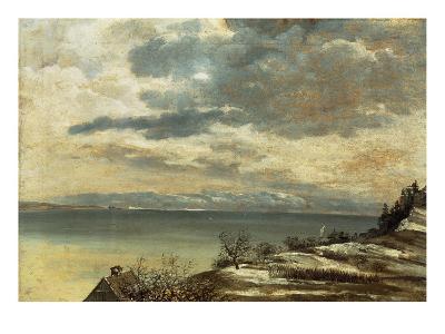 Dark Winter Day on Lake Constance--Giclee Print