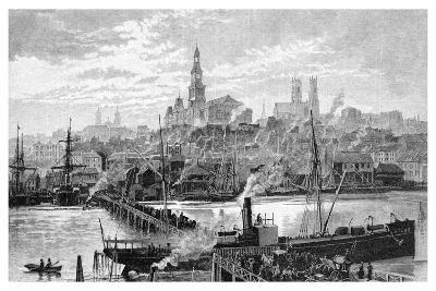 Darling Harbour, from Pyrmont, Sydney, New South Wales, Australia, 1886-Frederic B Schell-Giclee Print