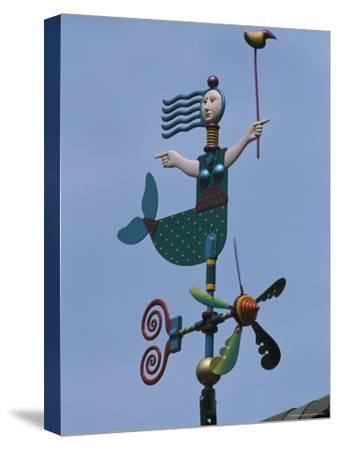 A Colorful Mermaid-Shaped Weather Vane