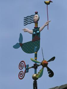 Colorful Mermaid Shaped Weather Vane, Brewster, Cape Cod, Massachusetts by Darlyne A. Murawski