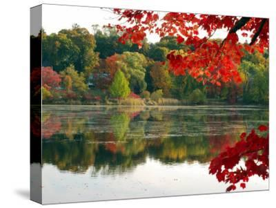Fall Foliage and Reflections in the Arlington Reservoir