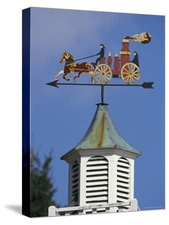 Fire-Wagon Weather Vane Atop a Cupola
