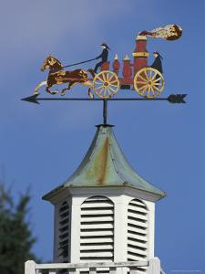 Fire-Wagon Weather Vane Atop a Cupola by Darlyne A. Murawski