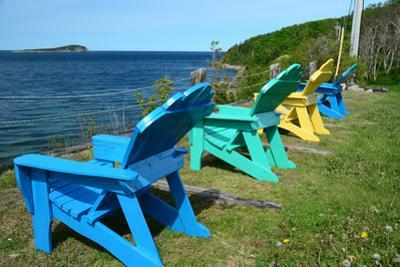 Four Adirondack Chairs Facing the Atlantic Ocean on Middle Head by Darlyne A^ Murawski