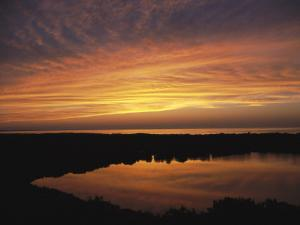 Sunset Seen from Scargo Tower, Tallest Point in Cape Cod, Massachusetts by Darlyne A. Murawski