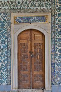 Beautiful Tile Work Inside the Harem Topkapi Palace, Istanbul, Turkey by Darrell Gulin