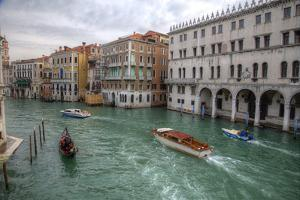 Boats Along the Grand Canal Venice, Italy by Darrell Gulin