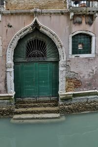 Building and Doorways Along the Many Canals of Venice, Italy by Darrell Gulin