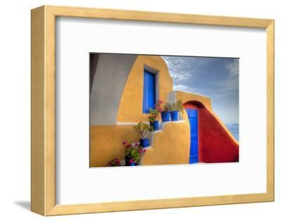 Colorful Building in Oia on Santorini in the Greek Isles