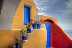 Colorful Building in Oia on Santorini in the Greek Isles by Darrell Gulin