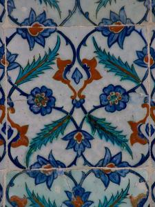 Colorful Tile Work in the Topkapi Palace, Istanbul, Turkey by Darrell Gulin