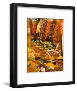 Dried Fruit and Spices for Sale, Spice Market, Istanbul, Turkey by Darrell Gulin