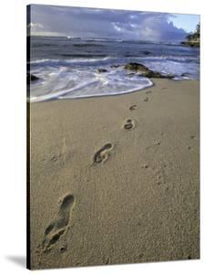 Footprints in the Sand, Turtle Bay Resort Beach, Northshore, Oahu, Hawaii, USA by Darrell Gulin