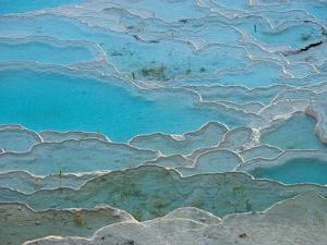 Geological Formations of the Hot Springs, Pammukkale, Turkey by Darrell Gulin