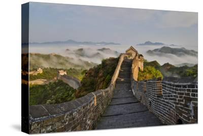 Great Wall of China on a Foggy Morning. Jinshanling, China