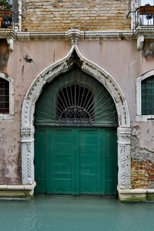 Green Doorway, Venice, Italy