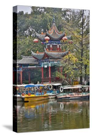 Green Lake Park and its Many Colorful Buildings, Kunming China