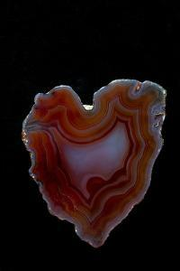 Heart Shaped Banded Agate, Quartzsite, AZ by Darrell Gulin