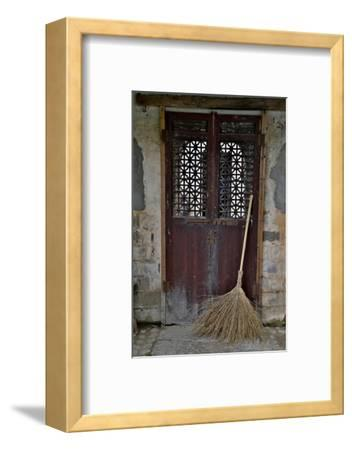 Hongcun Villiage, Doorway with Broom, China, UNESCO