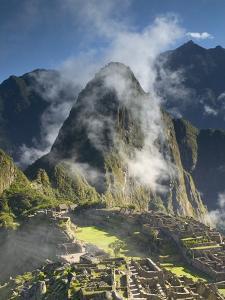 Machu Picchu in Morning Fog by Darrell Gulin
