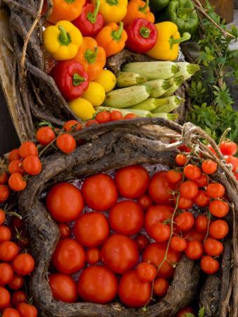 Market With Vegtables, Fira, Santorini, Greece