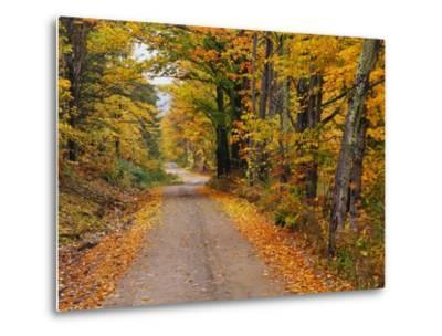 New England Road in Autumn