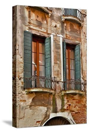 Old and Colorful Doorways and Windows in Venice, Italy