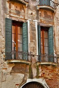 Old and Colorful Doorways and Windows in Venice, Italy by Darrell Gulin