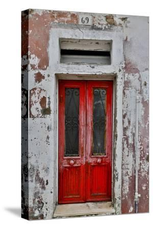 Red Doorway Old Building Burano, Italy
