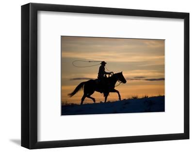 Silhouette of Cowboy in Wyoming